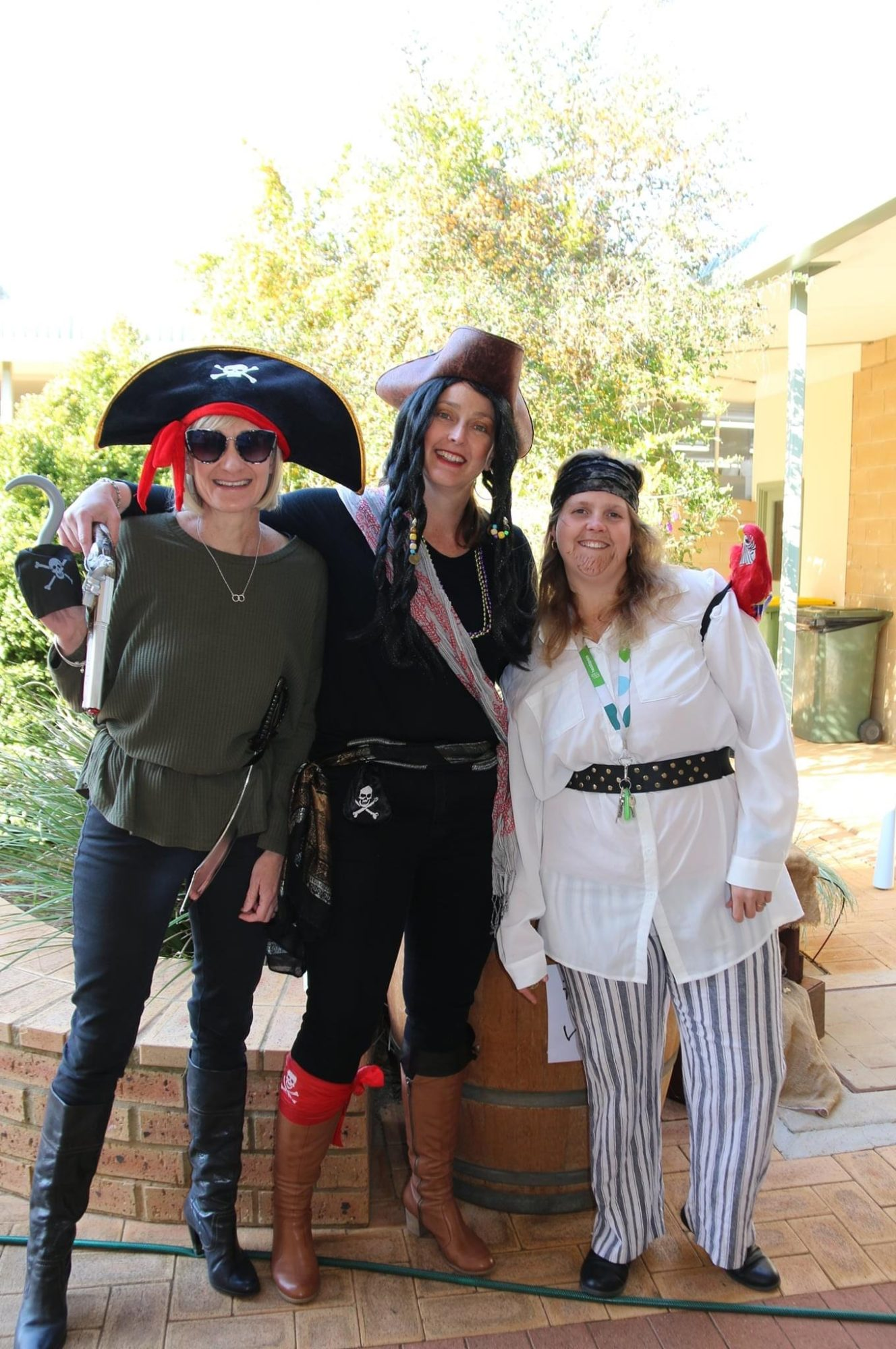 Teachers at Mukinbudin District High School dressed up as pirates for Pirate Day